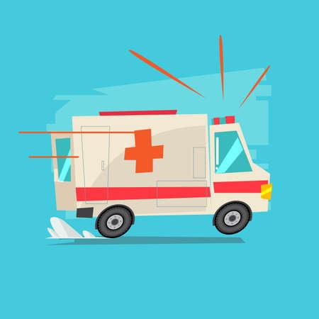 ambulance car - vector illustration Stock Illustratie