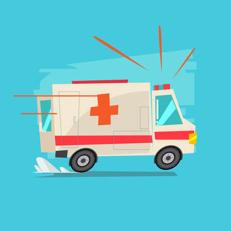 ambulance car - vector illustration 矢量图像