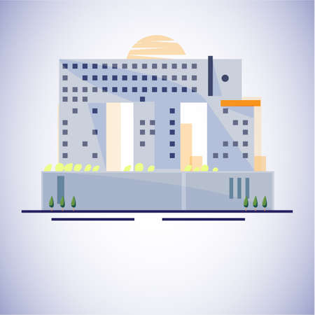 elephant building, Bangkok, Thailand. Famous building concept - vector illustration