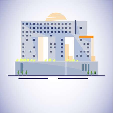 elephant building, Bangkok, Thailand. Famous building concept - vector illustration