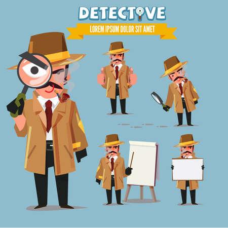 Conjunto de caracteres de detective . Foto de archivo - 86112975