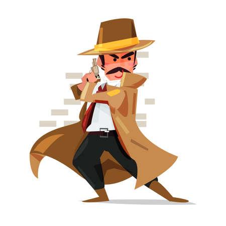 남성 탐정 아이콘입니다. 일러스트