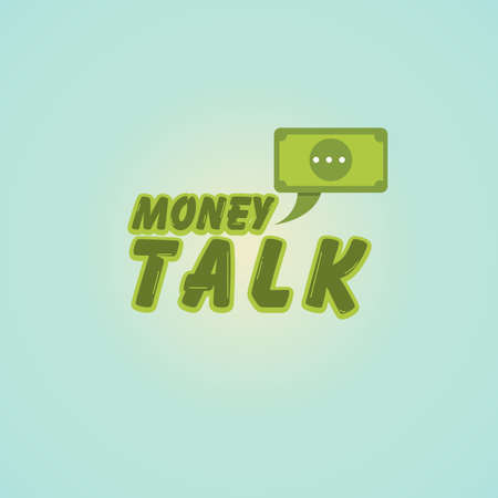 money with speech bubble logo. business concept - vector illustration