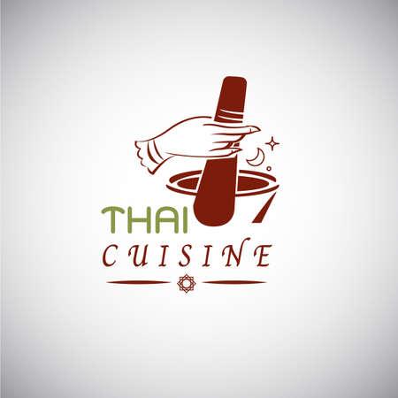 Thai food concept. Illustration