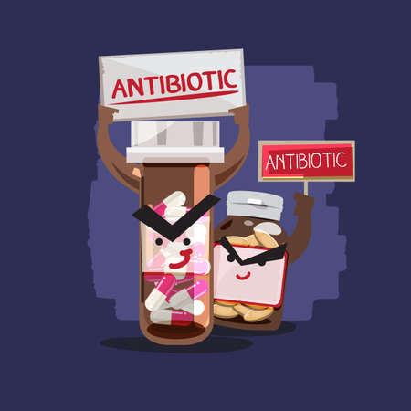 Antibiotic. character design - vector illustration