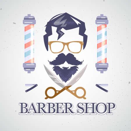 Vintage Barber Shop Logo - Vektor-Illustration Standard-Bild - 86387336