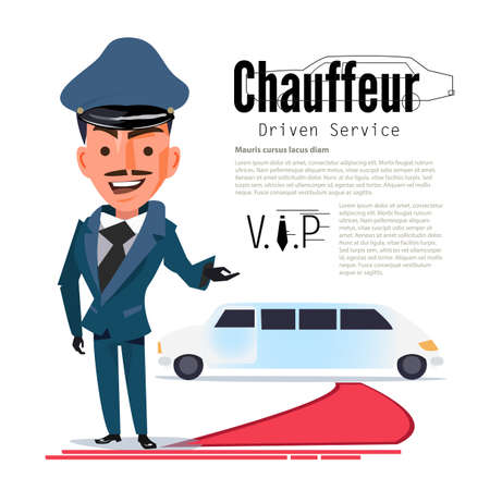 Chauffeur. Stock Illustratie