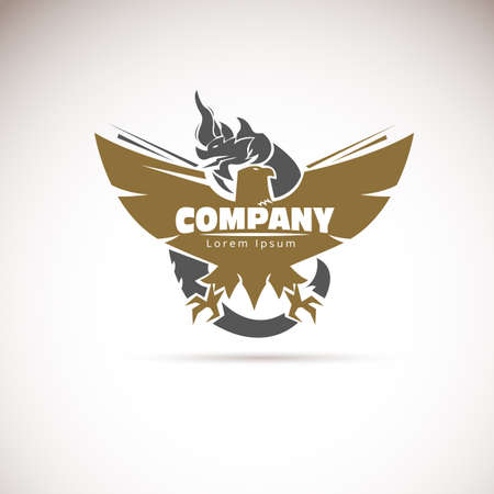 Eagle en draak logo ontwerp vectorillustratie Stock Illustratie