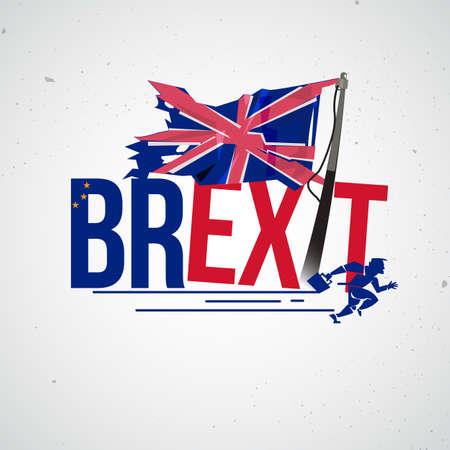 Brexit 활판 인쇄 디자인.