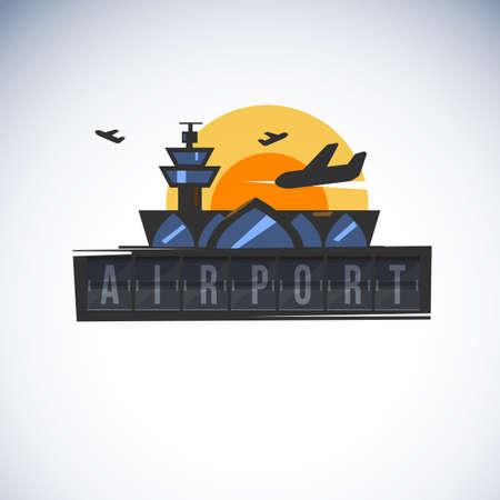 Airport icon illustration. Stock Vector - 88859496