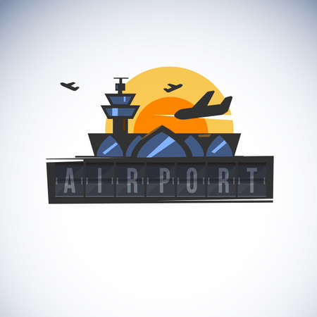 Airport icon illustration.