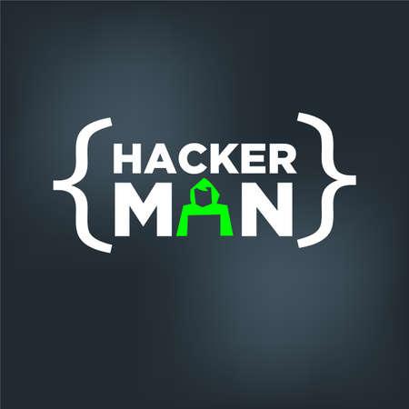 Hacker man concept - vectorillustratie
