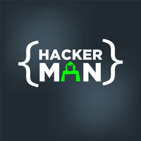 Hacker man concept - vector illustration