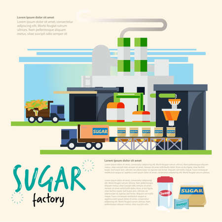 Sugar industrial concept - vector illustration