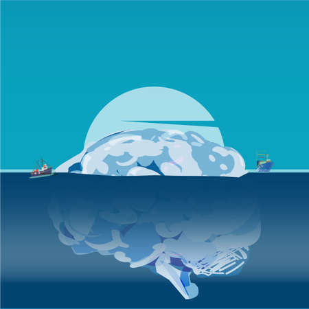 Human brain as iceberg. 版權商用圖片 - 99287204