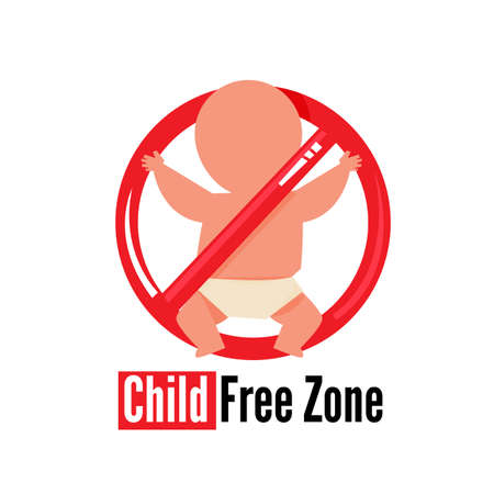 Child Free Zone sign - vector illustration Ilustração