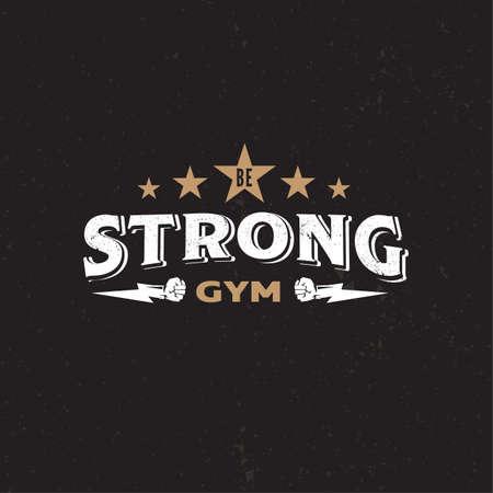 Strong Logo in gym concept . vector illustration Illustration