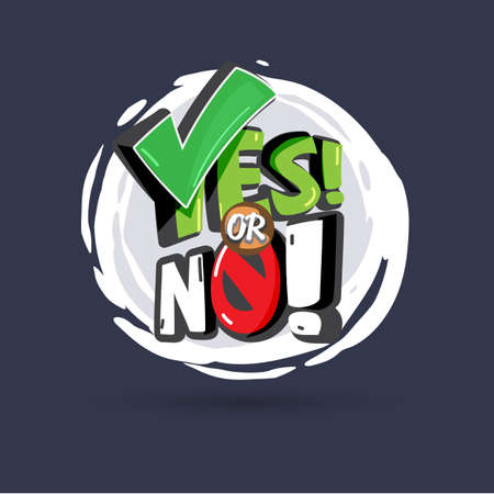 Yes or No logotype. typographic - vector illustration