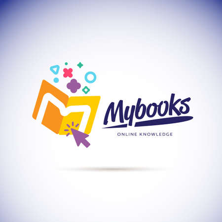 My books logo concept. online book store icon - vector illustration Vettoriali