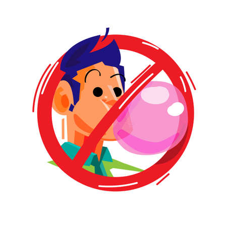 no chewing gum sign - vector illustration