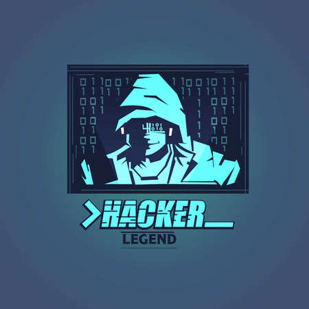 Hacker logo - vector illustration Illustration