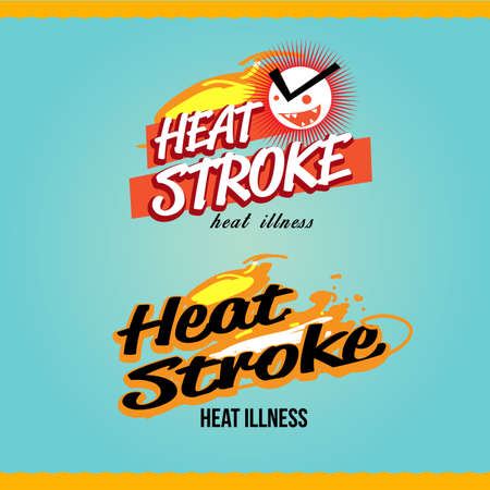 heatstroke logo . vector illustration