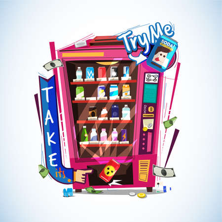 Vending machine. Illustration