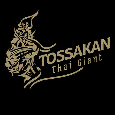 Thai giant logo. Thai ancient Tossakan. Lord Tossakan king of Giant - vector illustration