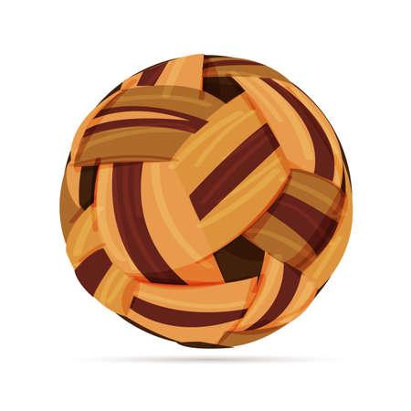 Sepak takraw ball - vector illustration Illustration