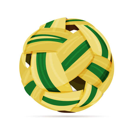 Sepak takraw ball - vector illustration Illustration