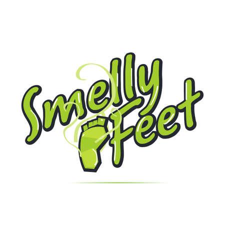 koncepcja logo zapachu stóp - ilustracja wektorowa Logo