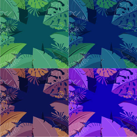 jungle background - vector