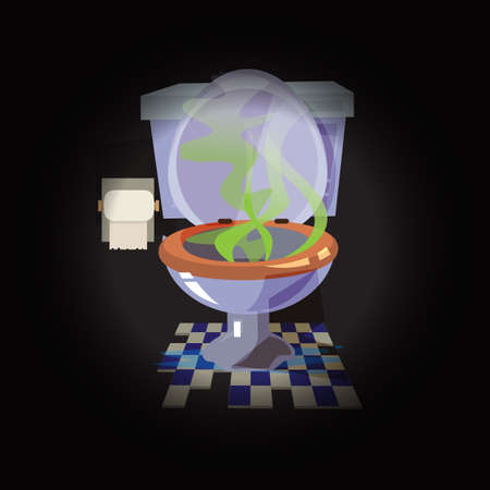 smell toilet bowl - vector illustration