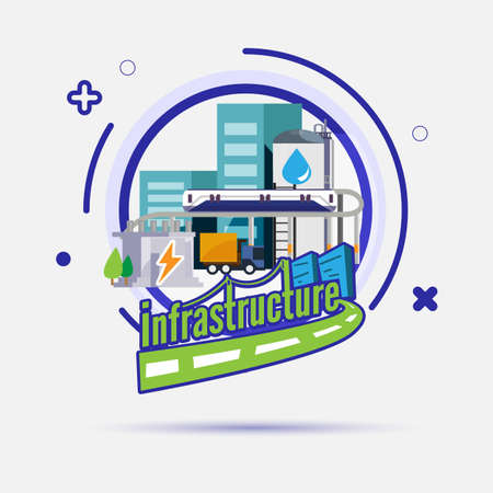 infrastructure icon - vector illustration Ilustrace