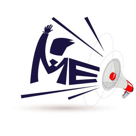 megáfono conmigo - ilustración vectorial Ilustración de vector