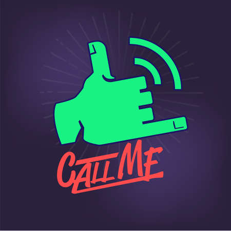 call me gesture - vector illustration Illustration