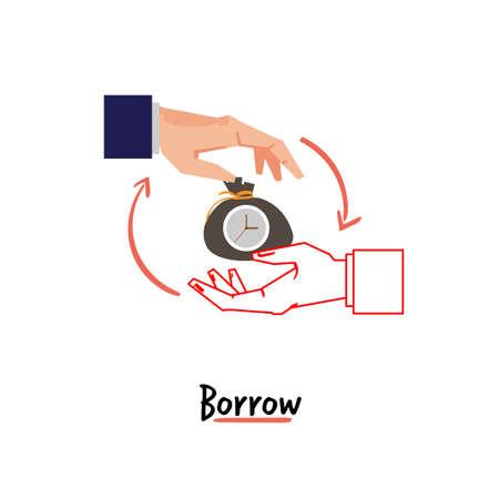 borrow hand sign - vector illustration Illustration