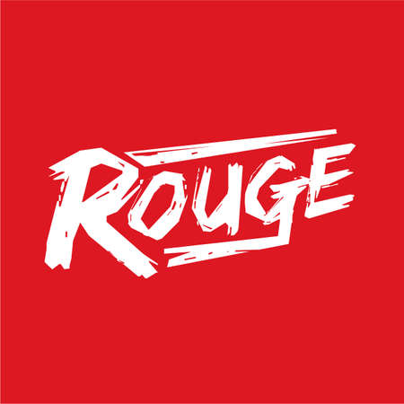rouge logo design. typograpphic of Rouge - vector