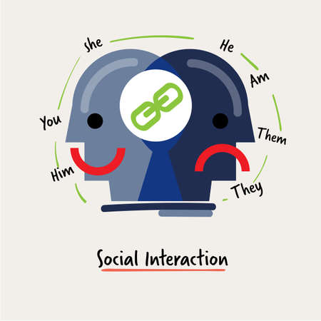 social interaction icon. business management icon concept - vector illustration 向量圖像