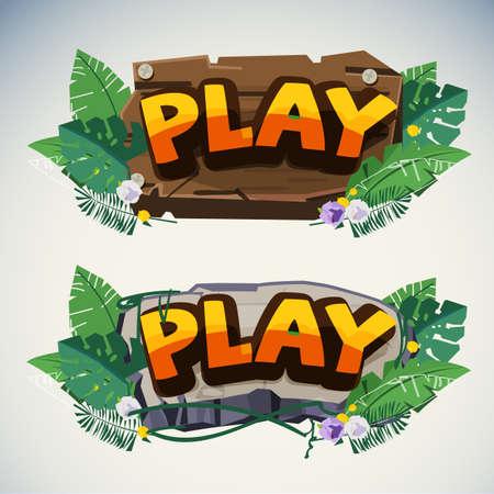jungle sign template - vector illustration 일러스트