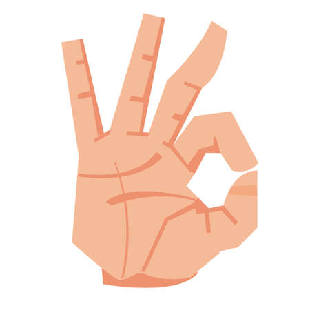 Okay hand sign. accept concept - vector illustration