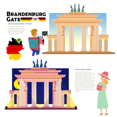 Brandenburg Gate - vector illustration  イラスト・ベクター素材