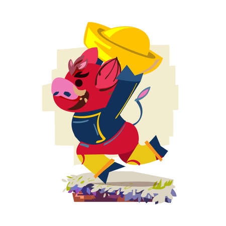 Celebrate the year of the pig - vector illustration