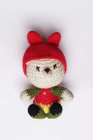 red dolls wool hat.