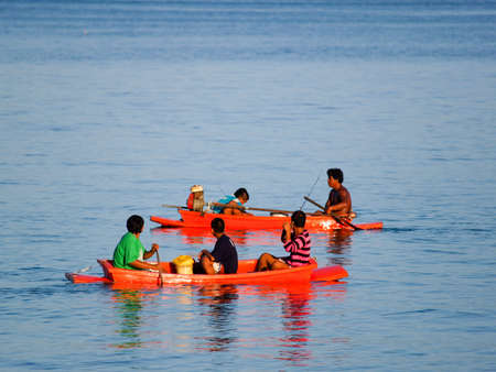 One lake, 2010 - Tourists and nature lovers, boating is a waste to the environment. Editorial