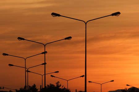 street sunset Standard-Bild
