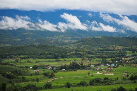 mae-chaem one district in Chiang Mai, Thailand, which are plentiful. Mountains are the highest in the country. Top international climate Standard-Bild