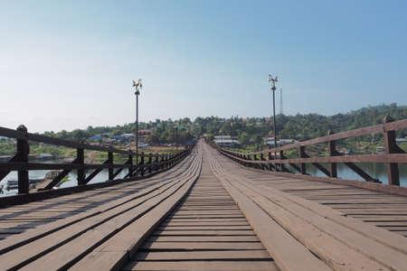 Raman wooden bridge embodiment of unity of the people Sangkhlaburi.