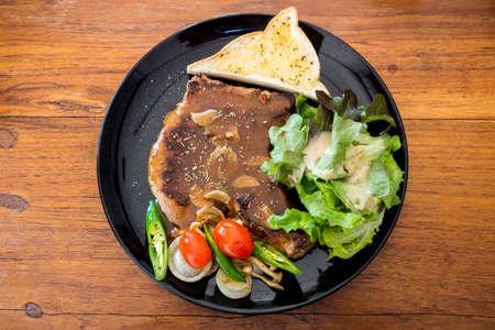 my grilled beef at lunch Standard-Bild