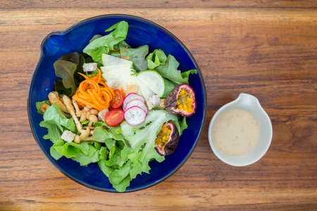 salad for health with delicious cream